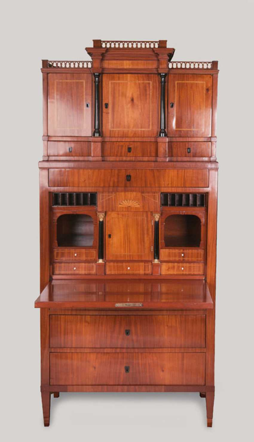 """Biedermeier writing Cabinet with shell motif"" - photo 2"