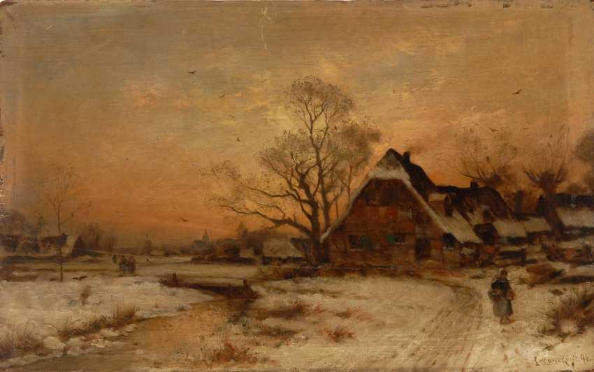 LANCKOW, Ludwig: Pendants Winterlandschaften. - Foto 1