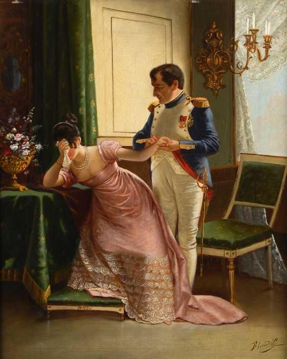 """LENDIK, F.: """"Napoleons Abschied von seiner Gemahlin Josephine"""". - Foto 1"""