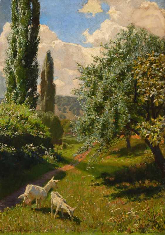 LIETZMANN, Hans: Landschaft mit Ziegen am Gardasee. - Foto 1