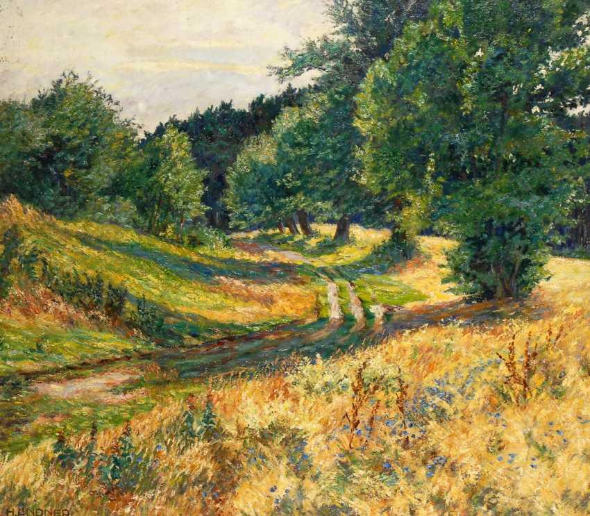 LINDNER, Hans: Impressionistische Landschaft. - Foto 1