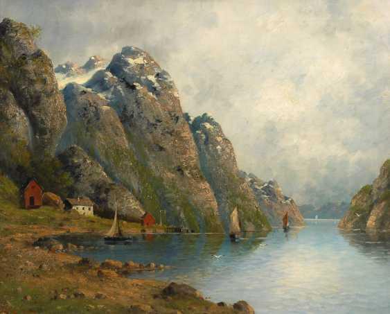 LORENZ, Carl RaimunDurchmesser: Fjordlandschaft. - Foto 1