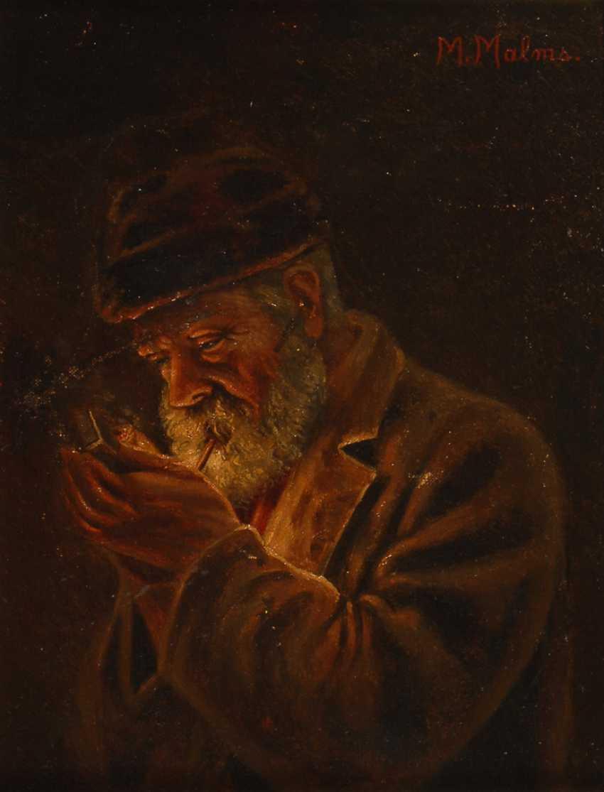 MALMS, M.: Bildnis eines Pfeifenrauchers. - Foto 1