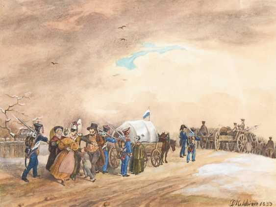MELCHIOR, Joseph: Abmarsch des Militärs. - Foto 1