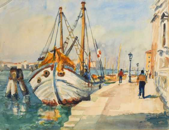 MIEDTKE-MARKENHOF, Rolf: Im Hafen von Venedig. - Foto 1