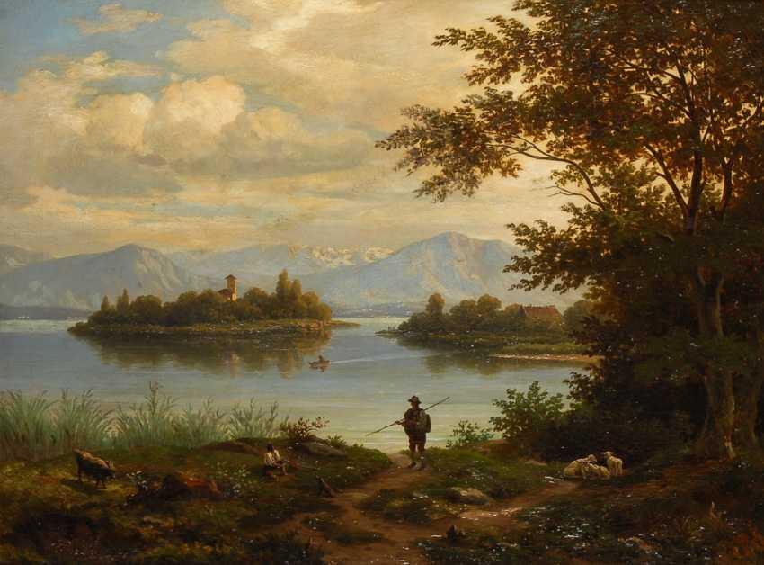 MonogrammisTiefe: Ansicht Roseninsel im Starnberger See. - Foto 1