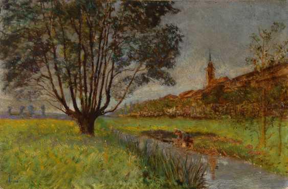 """Monogrammist """"LP"""": Impressionistische Landschaft. - Foto 1"""