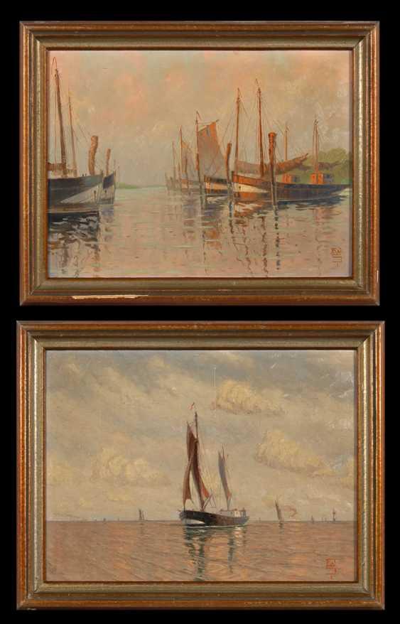 MonogrammisTiefe: Pendants Schiffsbilder. - Foto 1