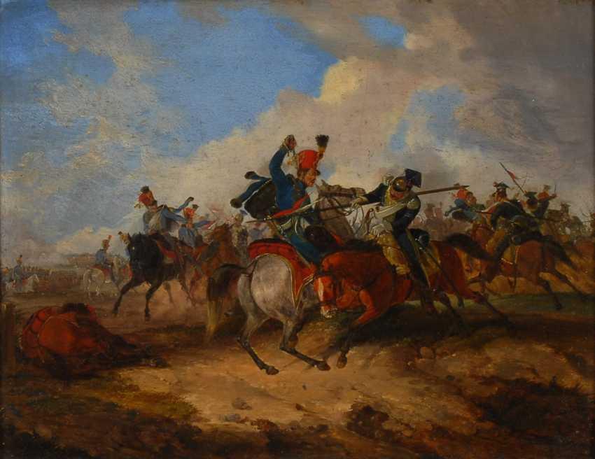 MONTEN, Dietrich: Reiterschlacht mit polnischen Ulanen während der - photo 1