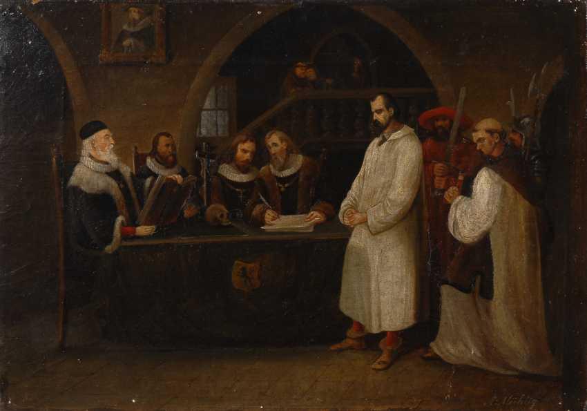 MÜHLIG, AlberTiefe: Inquisitionsszene. - Foto 1
