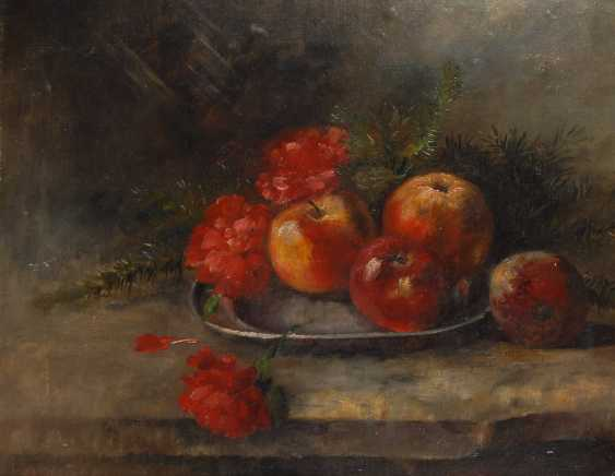 OEHME, Georg EgmonTiefe: still life with carnations and Apples. - photo 1