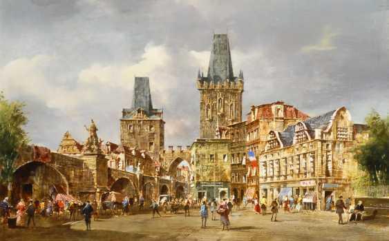PALLMANN, Peter Götz: Die Karlsbrücke in Prag. - Foto 1