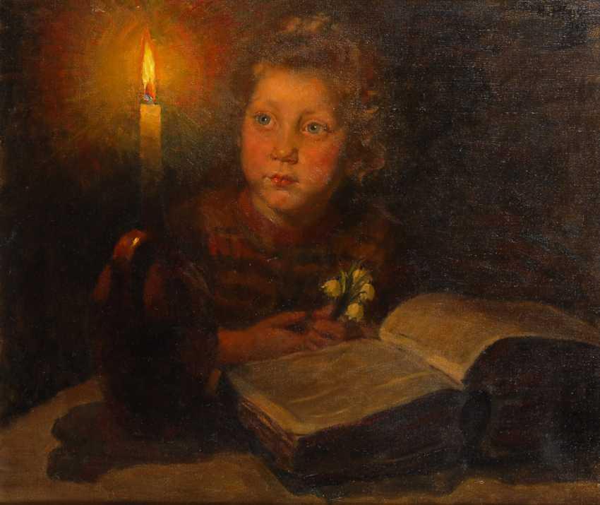 PFORR, Heinrich: Kinderbildnis im Kerzenschein. - Foto 1