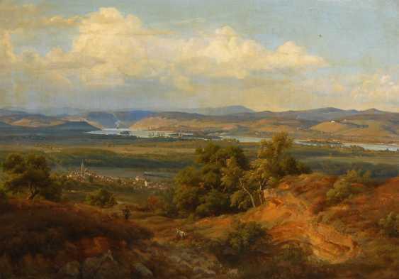 POSE, Eduard Wilhelm: Sonnige Donaulandschaft. - photo 1