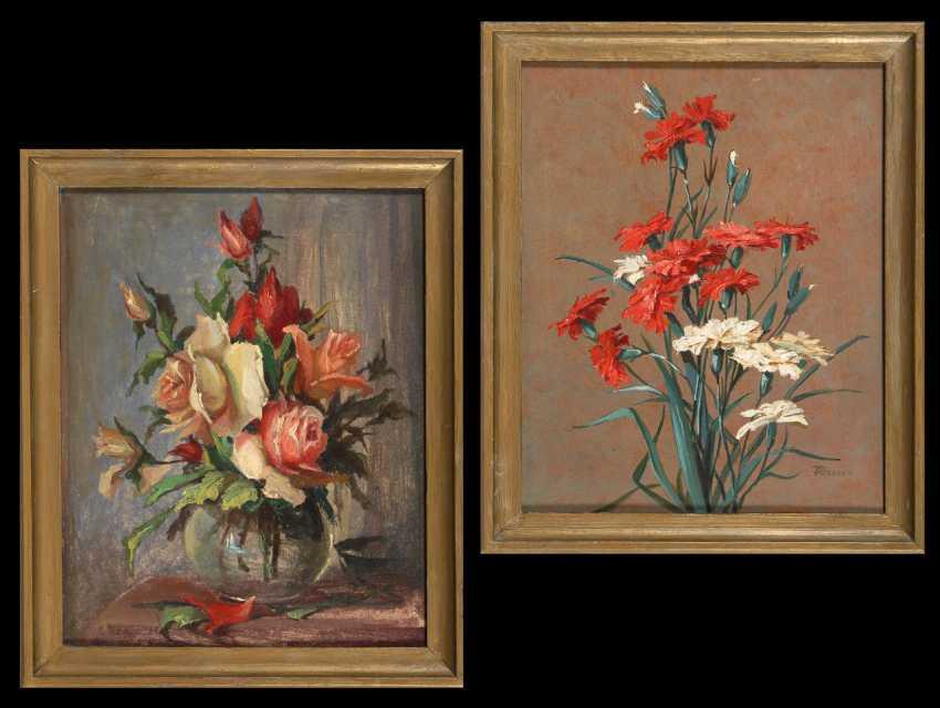 RAUCH, Franz: Zwei Blumenstücke. - Foto 1