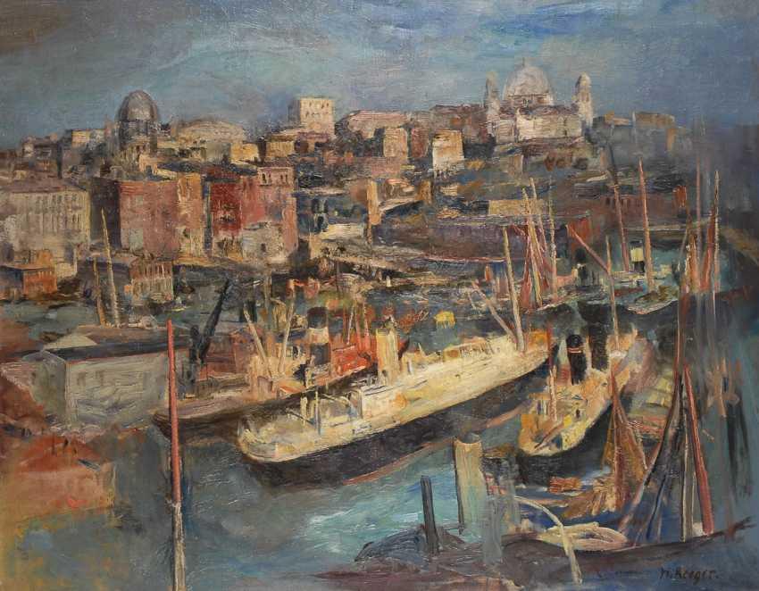 """REEGER, Hans: """"Hafen von Genova"""". - Foto 1"""
