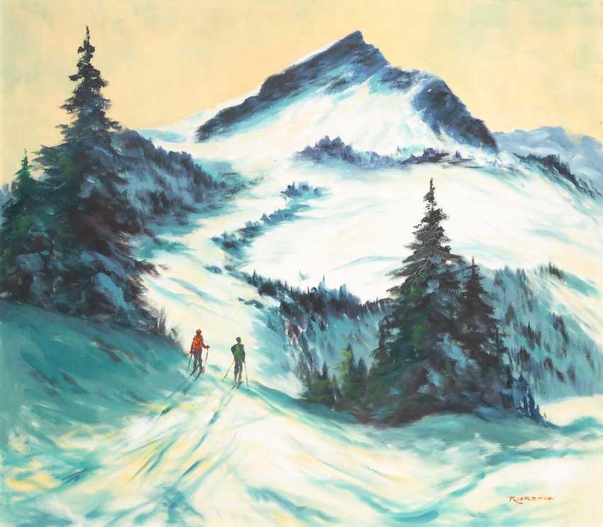 ROHRBACH, Walter: Skifahrer im Winter. - photo 1