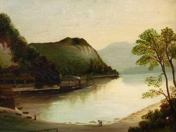 Romantiker: Flusslandschaft mit Dampfer. - Foto 1