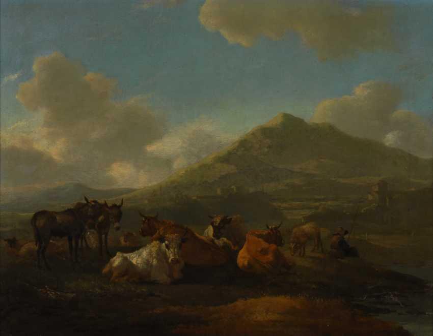 ROMEYN, Willem zugeschrieben: Rastende Kühe. - photo 1