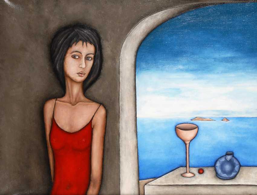 Russischer Künstler: Frau am Fenster. - Foto 1