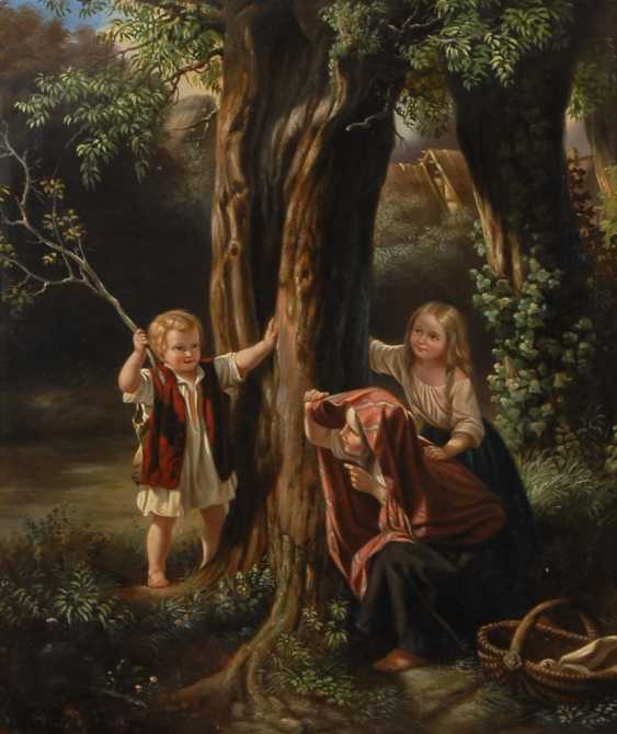 SALENTIN, Hubert zugeschrieben: Kinder am Baum spielend. - Foto 1