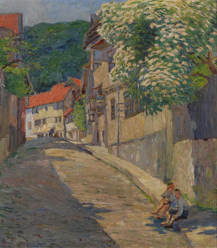 SCHILLING, Bertha: Straße in Blankenburg (Harz). - Foto 1