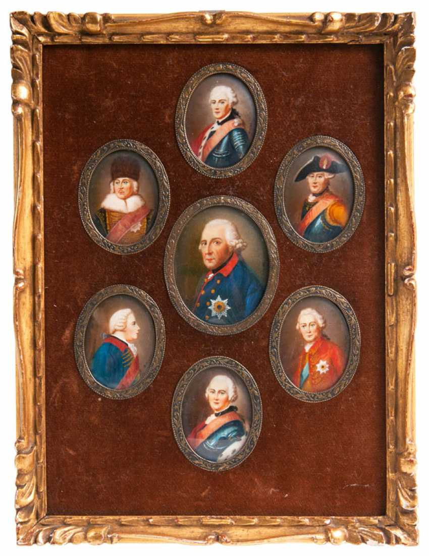 "A German miniature painter ""Frederick the Great and his generals"" - photo 1"