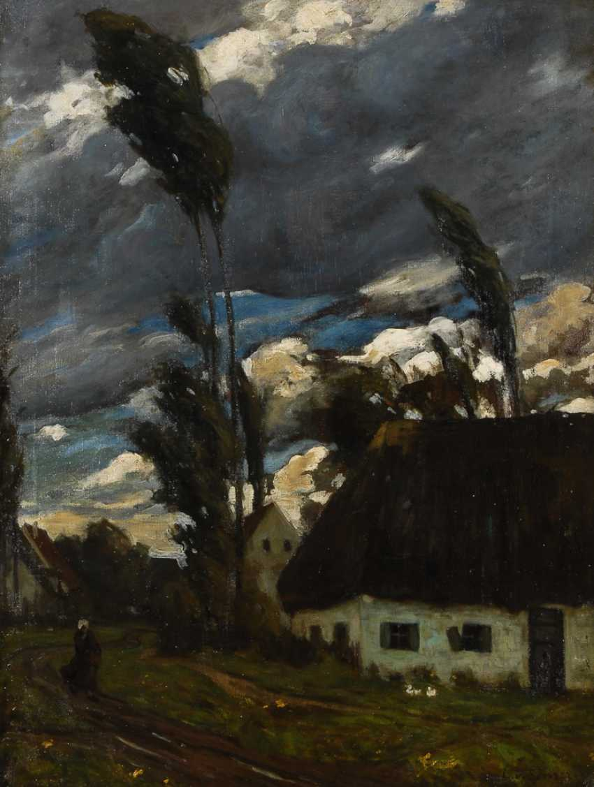 SENGER, Ludwig von: Sturm über dem Dorf. - Foto 1