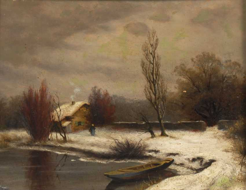 SPLITGERBER, August Karl Martin: Winterlandschaft. - Foto 1