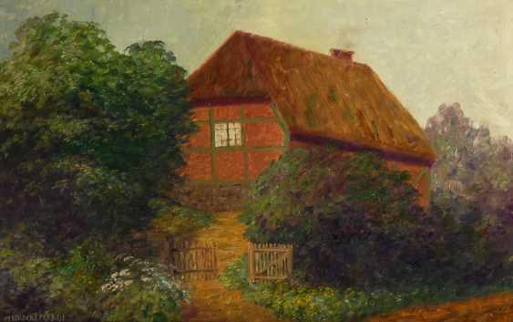 STRECKENBACH, Max: Landschaft mit Bauernhaus. - Foto 1