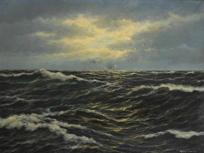 Undeutlich signierTiefe: Offenes Meer. - Foto 1