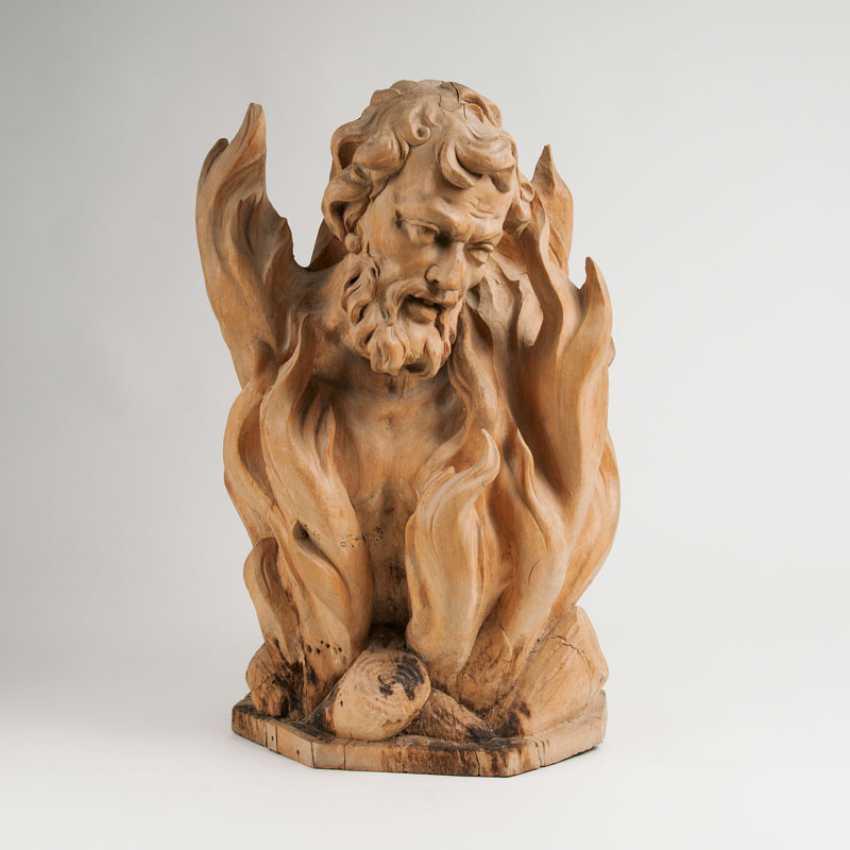 """Baroque wood sculpture, 'poor soul in purgatory""' - photo 1"