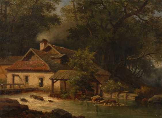 UnsignierTiefe: Mühle am Wasserlauf. - Foto 1