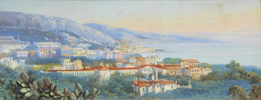 URBINO, M.: Blick über Genua. - Foto 1