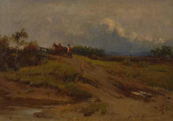 VENNE, Adolf van der: Bauer mit Pferden auf Brücke. - Foto 1