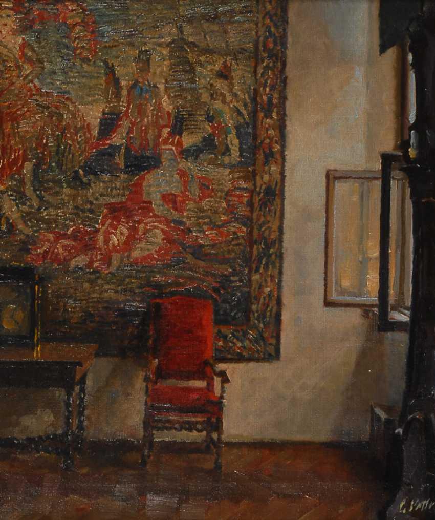 VETTER, Charles: Interieur mit rotem Stuhl. - Foto 1