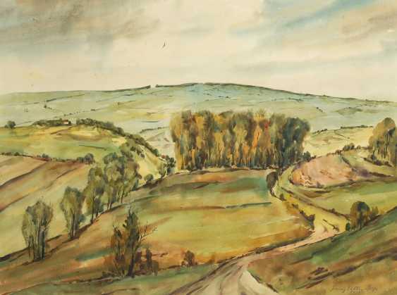 VETTER, Franz: Hügelige Landschaft. - Foto 1