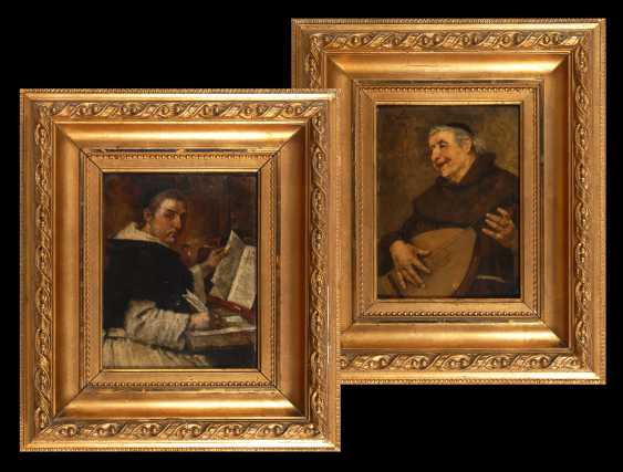 WEBER, Heinrich: Zwei Porträts von Geistlichen. - Foto 1