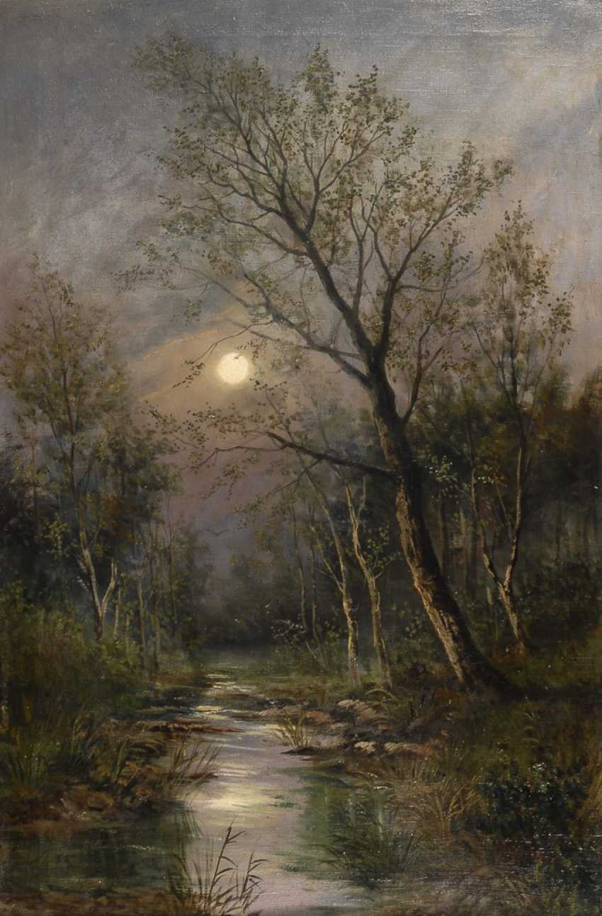 WEBER, Therese: Vollmond über dem Wald. - Foto 1