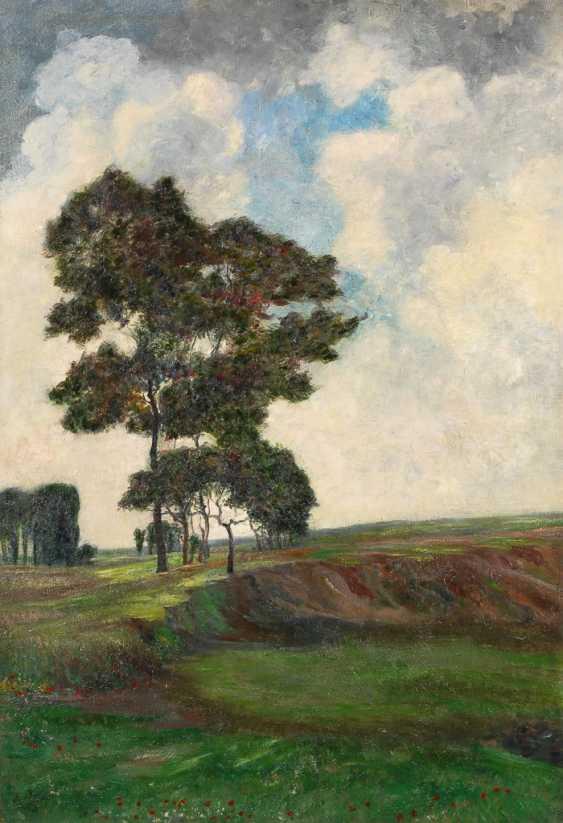 Weimarer Maler: Weite Landschaft mit Bäumen. - Foto 1