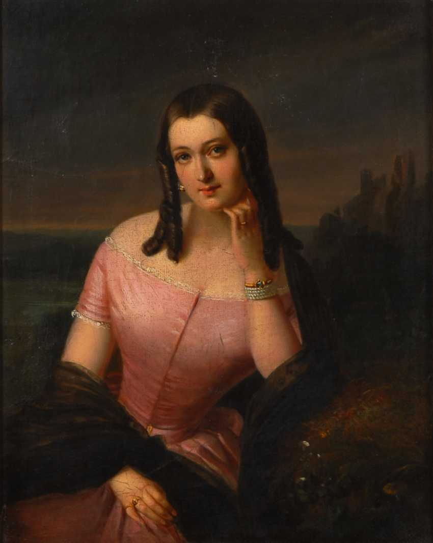 WEYDE, Julius: Elegante Dame. - Foto 1