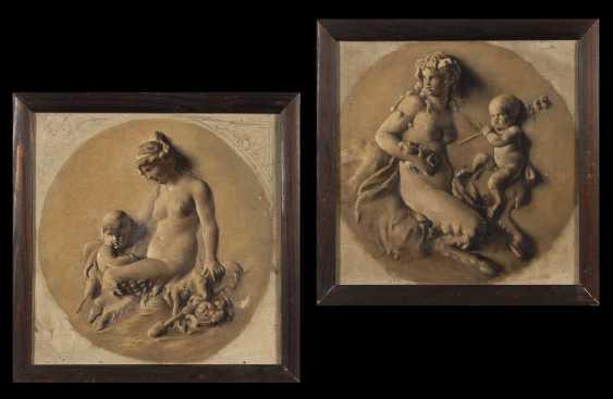 Zwei mythologische Szenen in Grisaille. - Foto 1