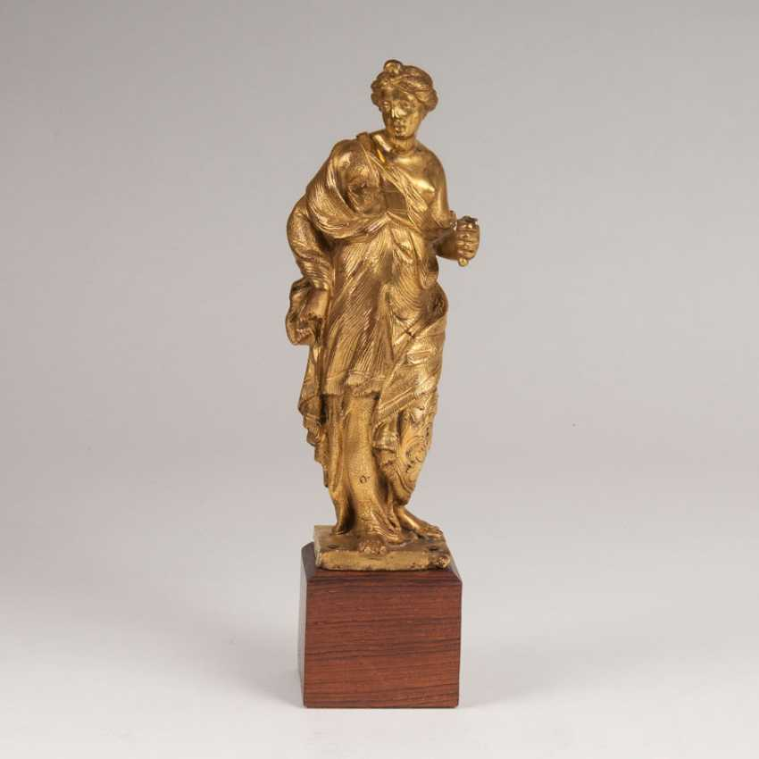 """Gold-Plated Bronze Sculpture 'Female Allegory""' - photo 1"