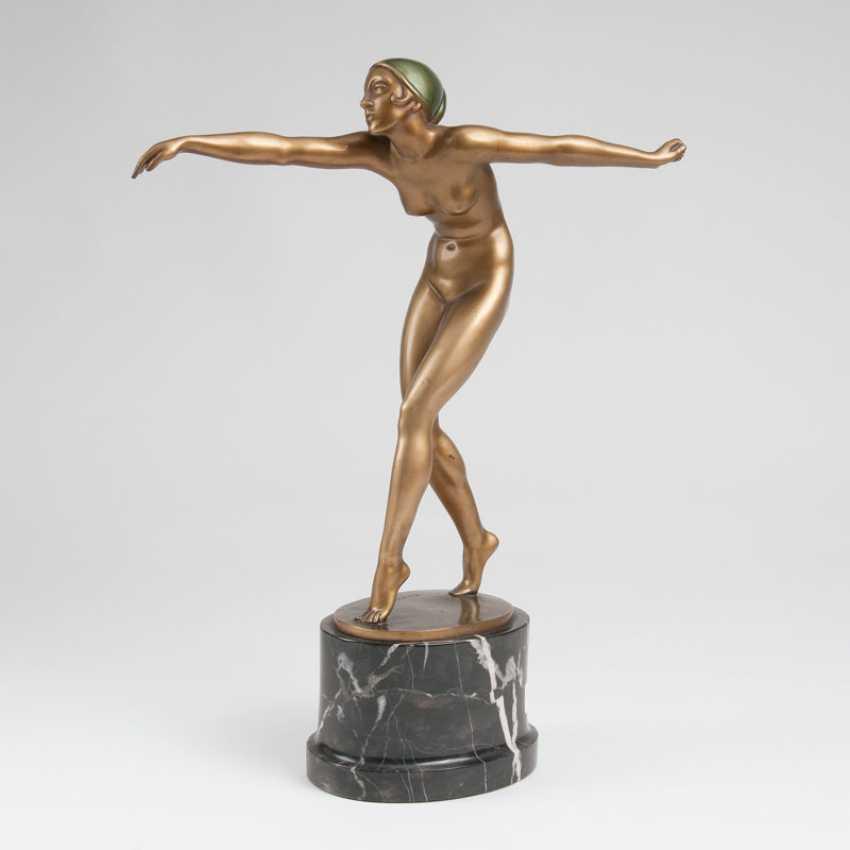 "Hermann Haase-Ilsenburg ""Art-deco Bronze sculpture 'dancer""' - photo 1"