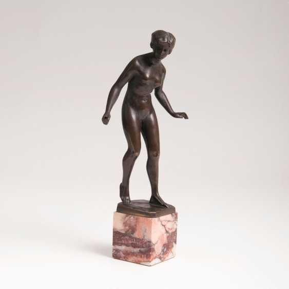 "Hans Keck, ""A Small Bronze Figure 'Female Nude""' - photo 1"