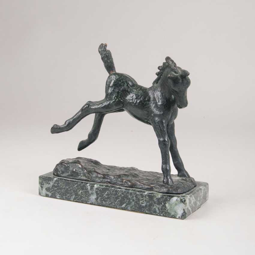 "Antonin Mara ""Small Animal Bronze 'Jumping Foal""' - photo 1"