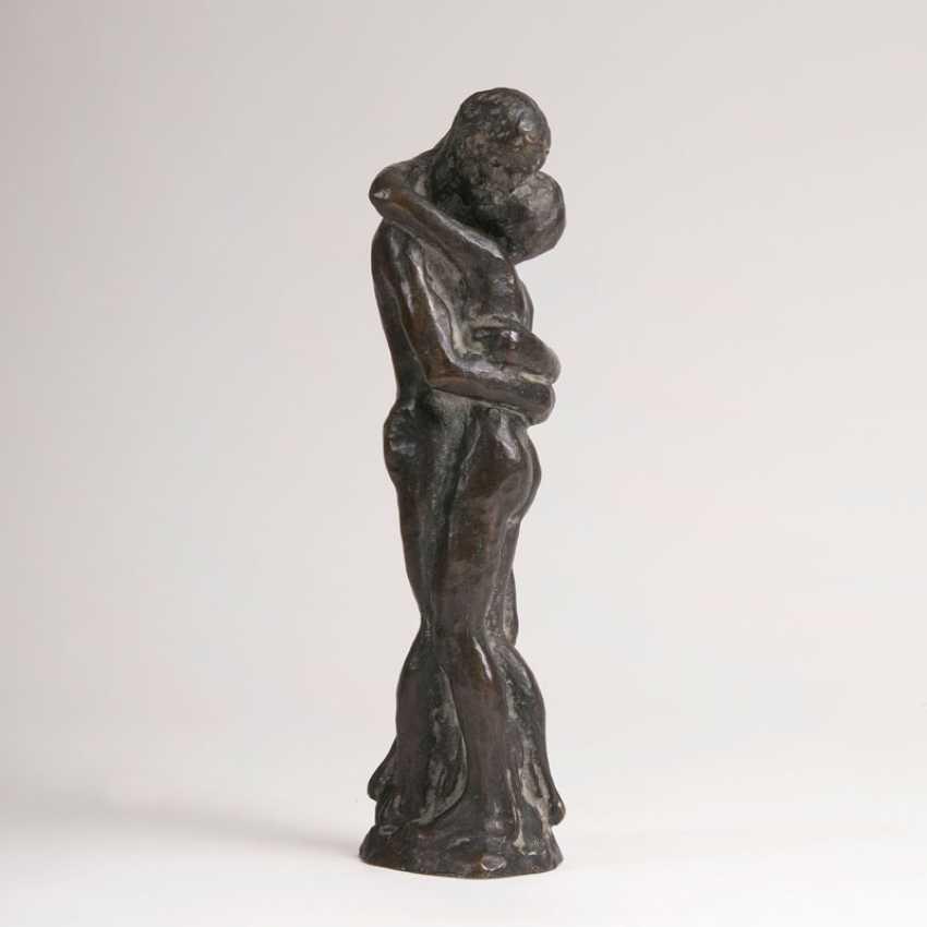 """Bronze Sculpture 'Couple In Love""' - photo 1"
