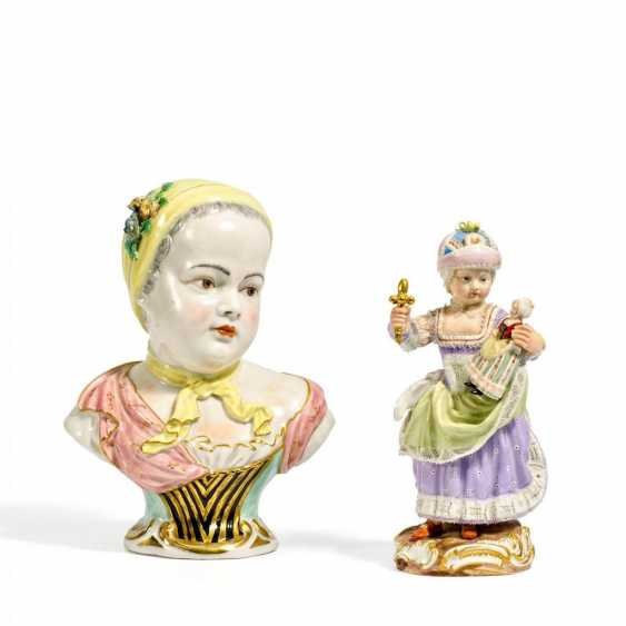 Girl with doll and the bust of the Princess Marie Zephirine de Bourbon - photo 1