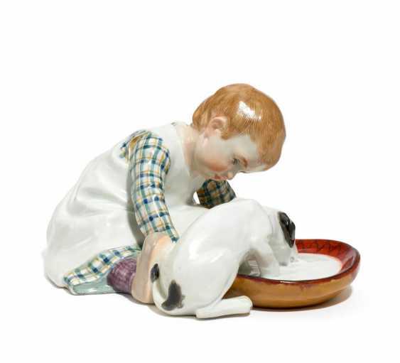 Child with dog - photo 1
