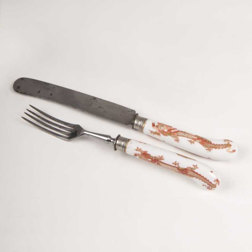 """""""A knife and fork with Red-dragon-decor"""" - photo 1"""